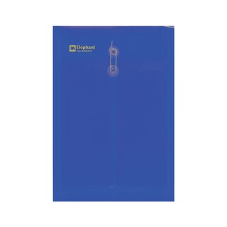 Elephant 435 Eyelet Clear Pocket A4 Blue 12/Pack