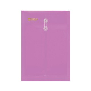 Elephant 435 Eyelet Clear Pocket A4 Pink 12/Pack