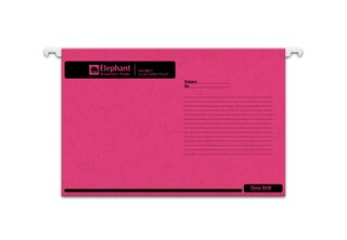Hanging File Pink (10/Pack) Elephant Fluo 927