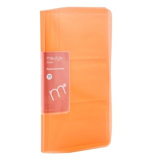 Business Card Holder Orange (120 Sheets) ME.STYLE A7603