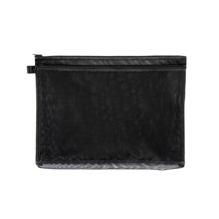 ME.STYLE Mesh Bag with Double Zipper B4 Black