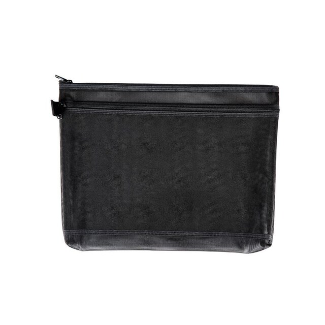 ME.STYLE Mesh Bag with Double Zipper B5 Black