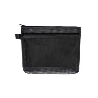 ME.STYLE Mesh Bag with Double Zipper A5 Black
