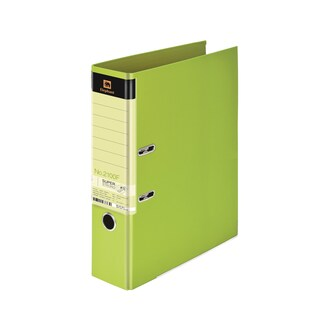 Lever Arch File F4 3-Inch Spine Lemon Green Elephant 2100