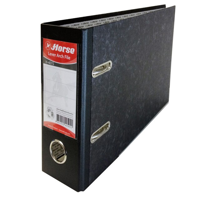 Lever Arch File A5 3-Inch Spine Black Horse 401S