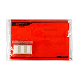 Suspension File F4 Red (10/Pack) Elephant 925