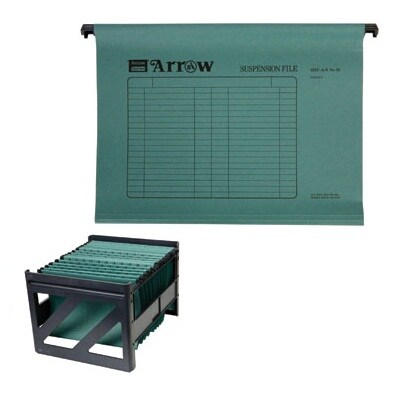 Suspension File with Organizer A4 Green (50/Pack) Arrow AR-55
