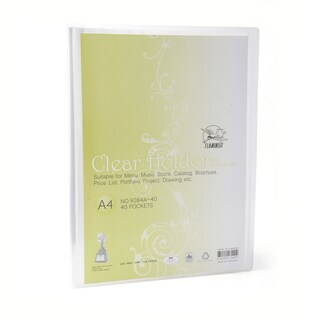 Flamingo 9084 View Binder A4 Clear White 40 Sheets/Book