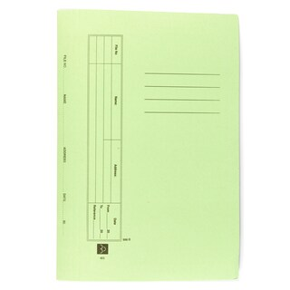File Folder With Fastener F/C Green Baipo 403