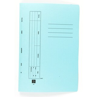 File Folder With Fastener F/C Blue Baipo 403