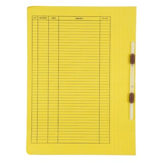 File Folder With Fastener A4 Yellow Baipo 403