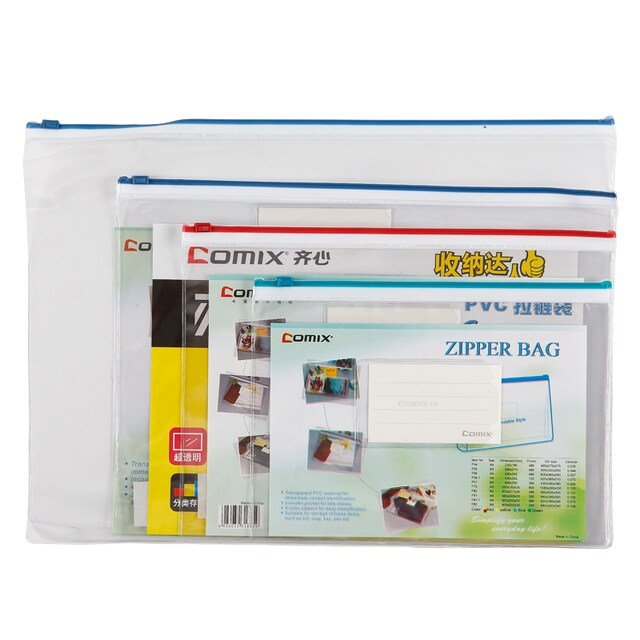 Comix F-57 Zip Plastic Pocket B4