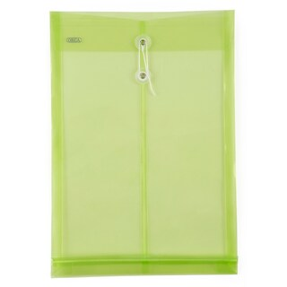 Plastic Envelope F4 Green ORCA LET-1