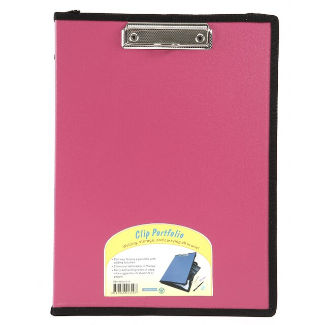 Plastic Portable File A4 Pink Bindermax 01319