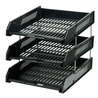 3 Tiers Document Tray Black ORCA L3