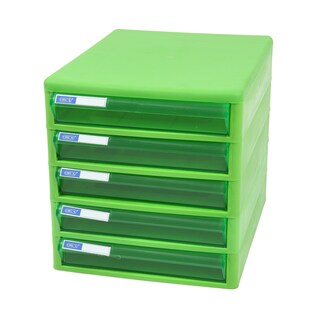 ORCA TCB-5 5-Drawer Chest with Clear Green-Green Construction