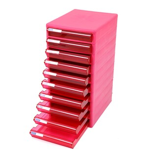 10-Drawer Chest with Clear Pink-Pink Construction ORCA TCB-10
