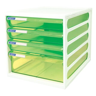 4-Drawer Chest with Clear Green-White Construction ORCA CFB-4