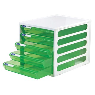 5-Drawer Chest with Clear Green-White Construction ORCA CFB-5
