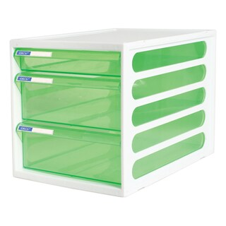 3-Drawer Chest with Clear Green-White Construction ORCA CFB-3