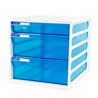 3-Drawer Chest with Clear Blue-White Construction ORCA CFB-3