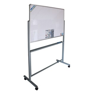 2Sided Magnetic Whiteboard+Rolling Castors 120x180 cm. VICTORY