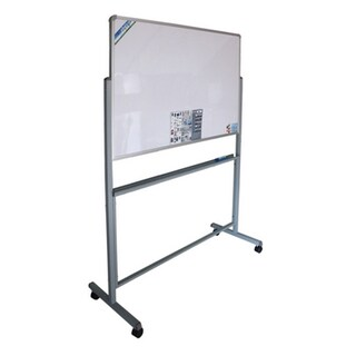 2Sided Magnetic Whiteboard+Rolling Castors 80x120 cm. VICTORY