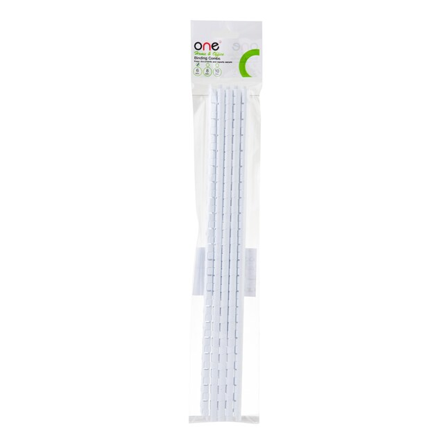 Plastic Binding Combs 6 mm. (10/Pack) White ONE