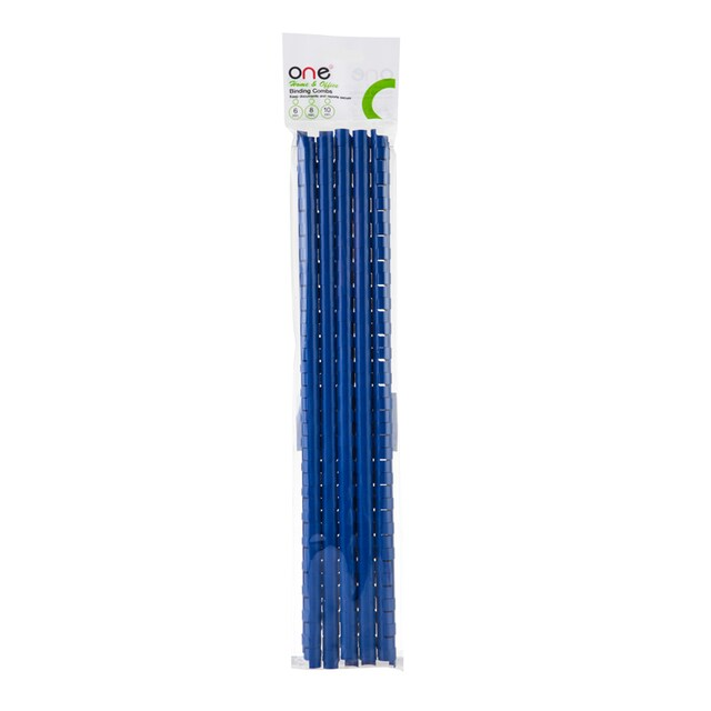 ONE Home&Office Plastic Binding Combs 10 mm. (10/Pack) Blue