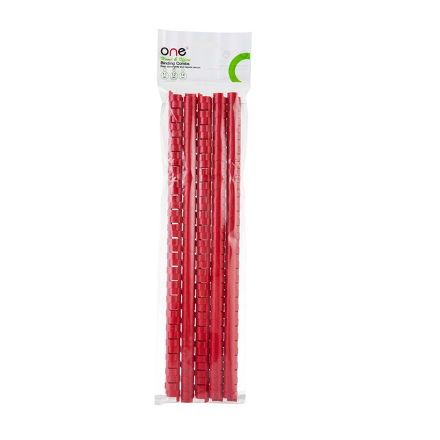 ONE Home&Office Plastic Binding Combs 12 mm. (10/Pack) Red