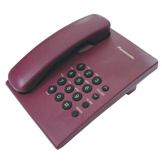 Telephone Red Madder Panasonic KX-TS500MX