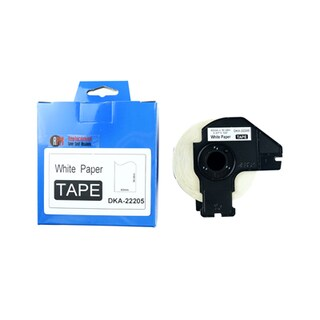 Label Tape 62mm x30.48mm Black on White RPM DKA-22205