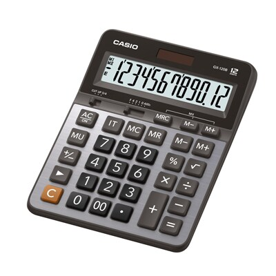 Casio GX-120B Calculator. Silver.