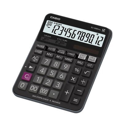 Casio DJ-120D PLUS Calculator. Black.