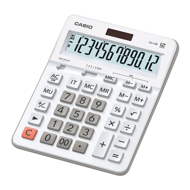 Calculator White Casio GX-12B-WE