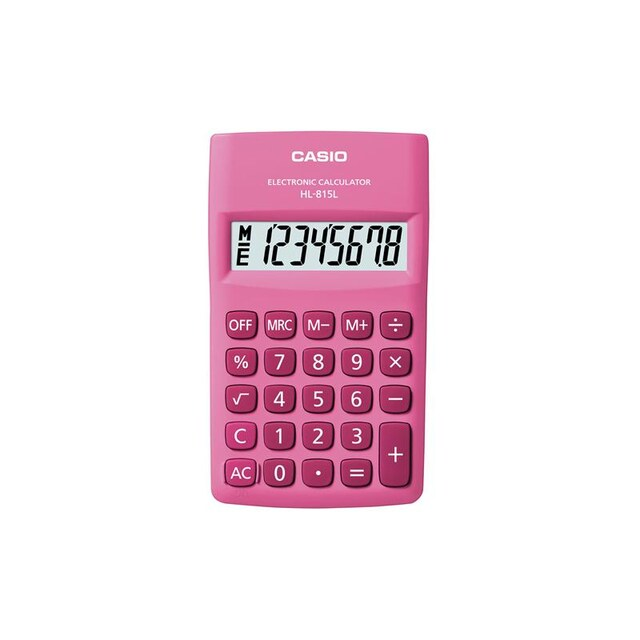 Casio HL-815L-PK Calculator. Pink.