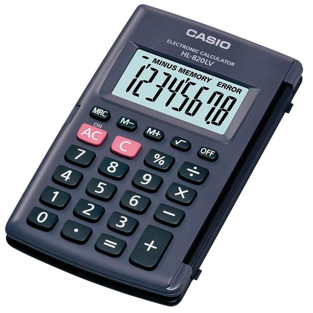 Casio HL-820LV Calculator. Black.