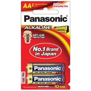 Panasonic LR6T/2B Alkaline Battery AA (2 Piece)