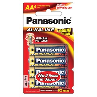 Panasonic LR6T/4B Alkaline Battery AA (4 Piece)