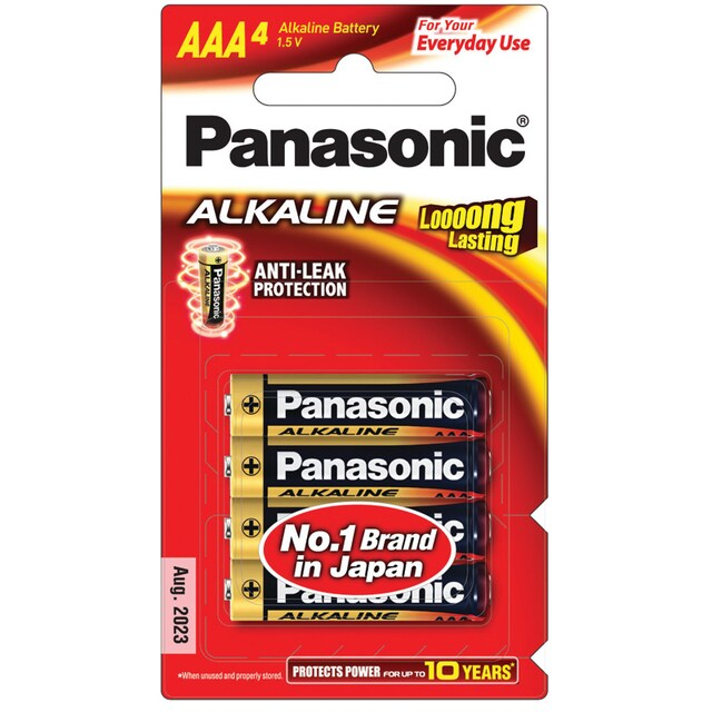 Panasonic LR03T/4B Alkaline Battery AAA (4 Piece)