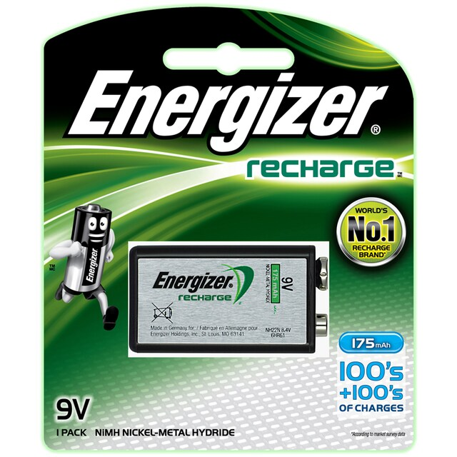Rechargeable Battery 9V (1 Piece) Energizer NH-22BP1