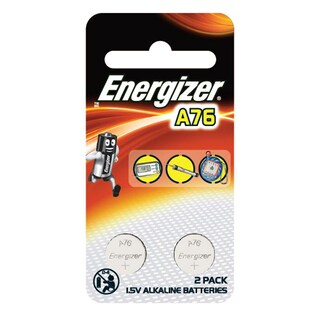 Button Battery (2 Piece) Energizer A76/LR44