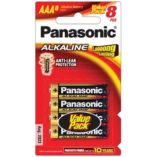 Panasonic LR03T/8B Alkaline Battery AAA (8 Piece)