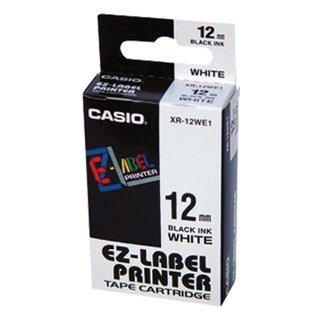 Casio XR-12 WE1 Label Printer Cartridge 12 mm. White Screen