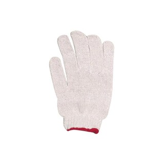 Unbleached Cloth Gloves (Red Rim) พี.เค.