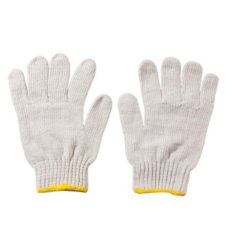 Unbleached Cloth Gloves (Yellow Rim) พี.เค.