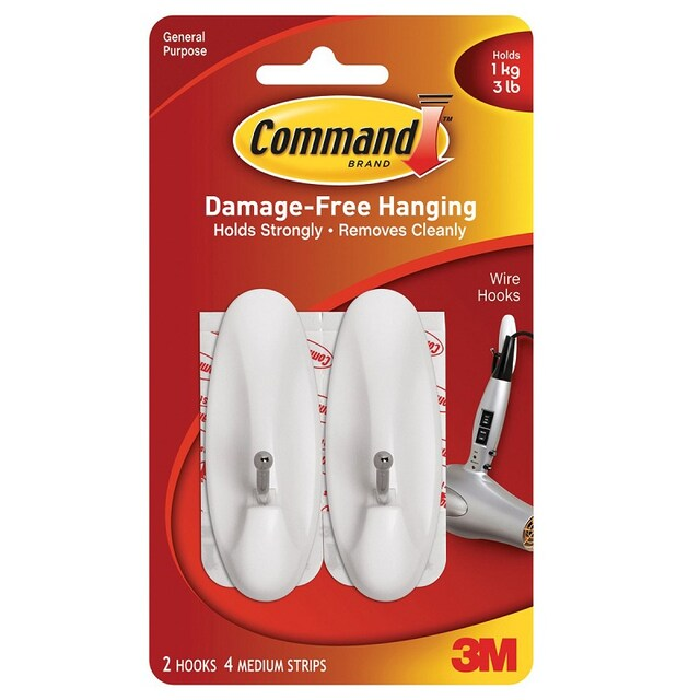 Medium Wire Hooks Command 17068