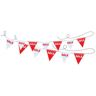 White-Red Sale Bunting คิว แฟลก