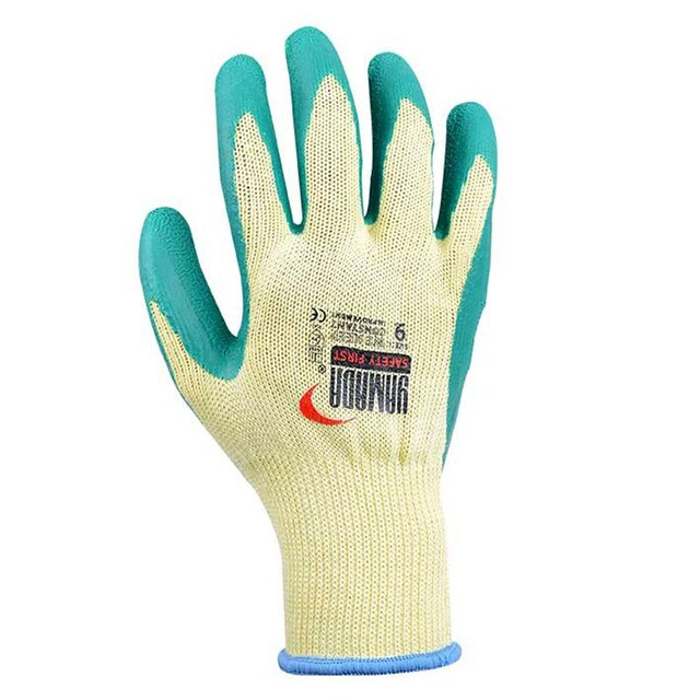 Latex Coated Glove Green Yellow YAMADA 9042