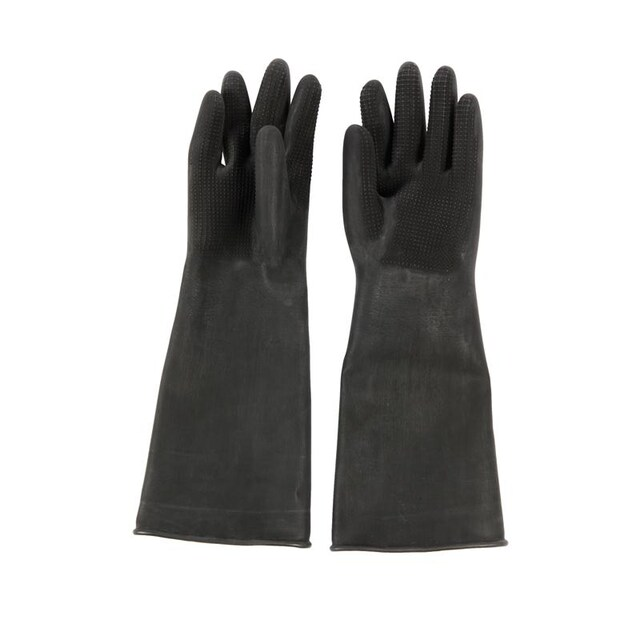 "Gloves 16"" L Black Microtex SUPERBLACK HFC"
